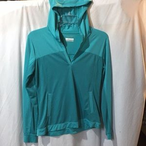 Columbia Omni-Freeze Blue Athletic Hoodie Size Med